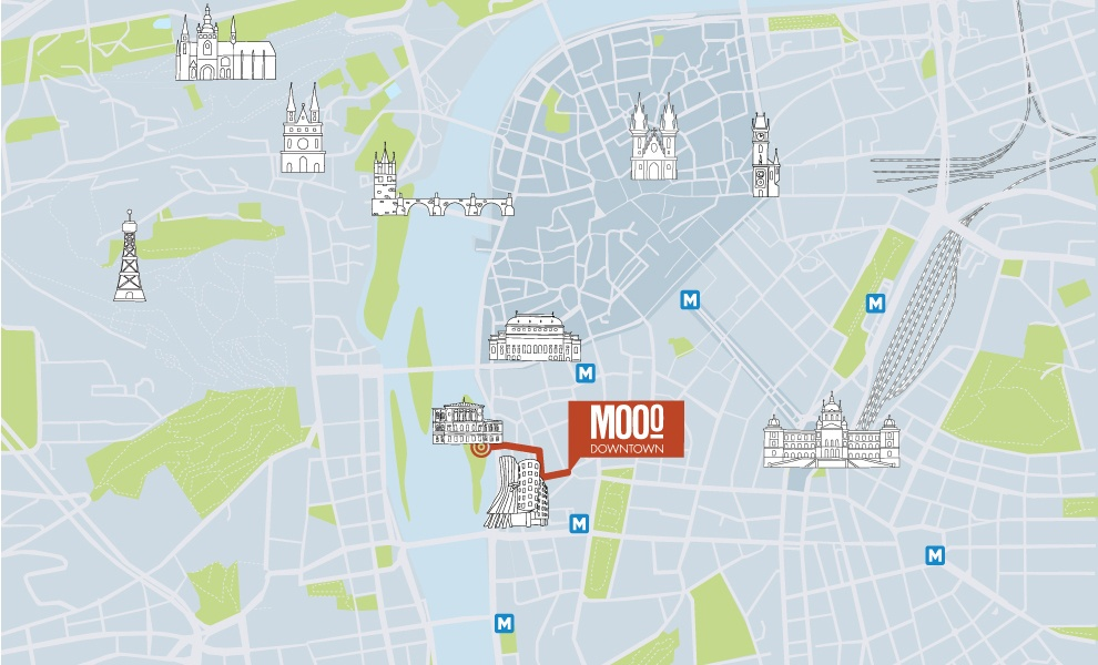 MOOo Downtown | Luxurious apartments in the center of Prague - Slavonic island